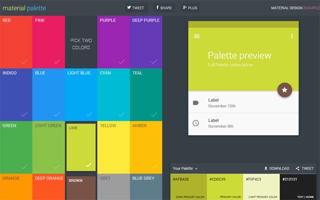 Infographic color palettes